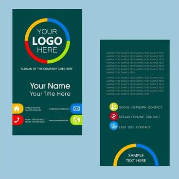 Coreldraw name card templates free vector download (24,274 Free ...