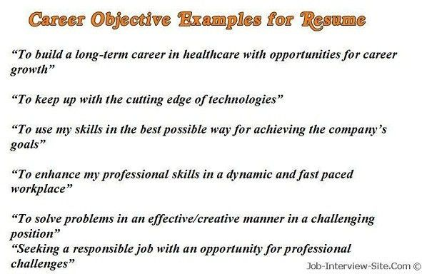 Doc728938 Resume Examples Example Of A Good Resume Objective ...