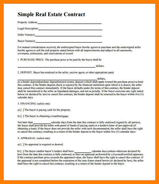 8+ free real estate purchase agreement template | packaging clerks