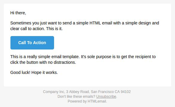 Really Simple Responsive HTML Email Template For Transactional ...