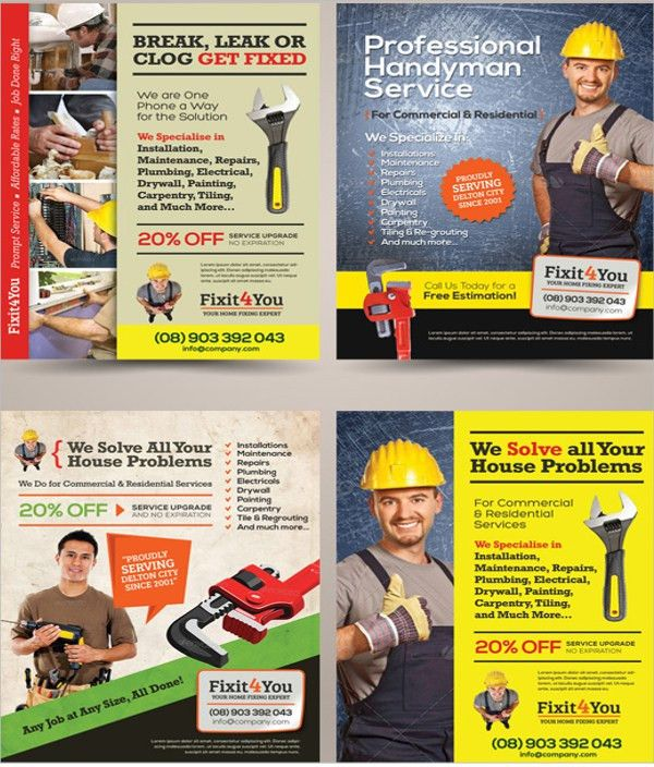17+ Plumber Flyers - Free PSD, AI, Vector, EPS Format Download ...