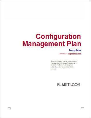 Configuration Management Plan - Download 24 page MS Word template