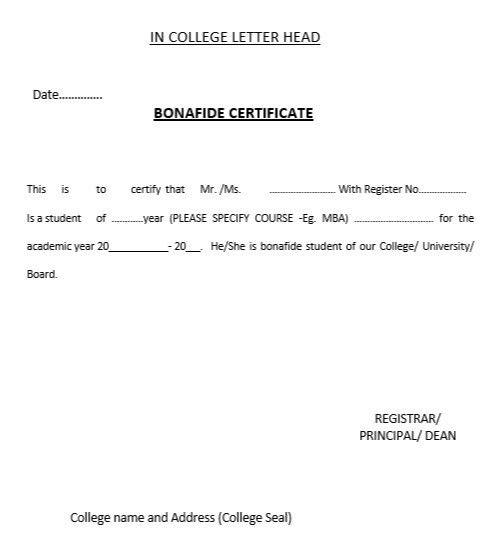 10 Free Sample Bonafide Certificate Templates – Printable Samples
