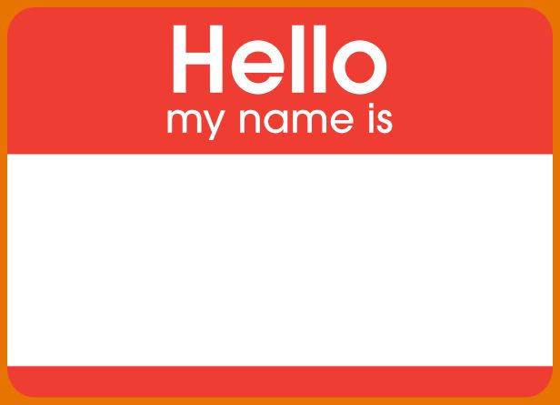 6+ name badge template word | Itinerary Template Sample