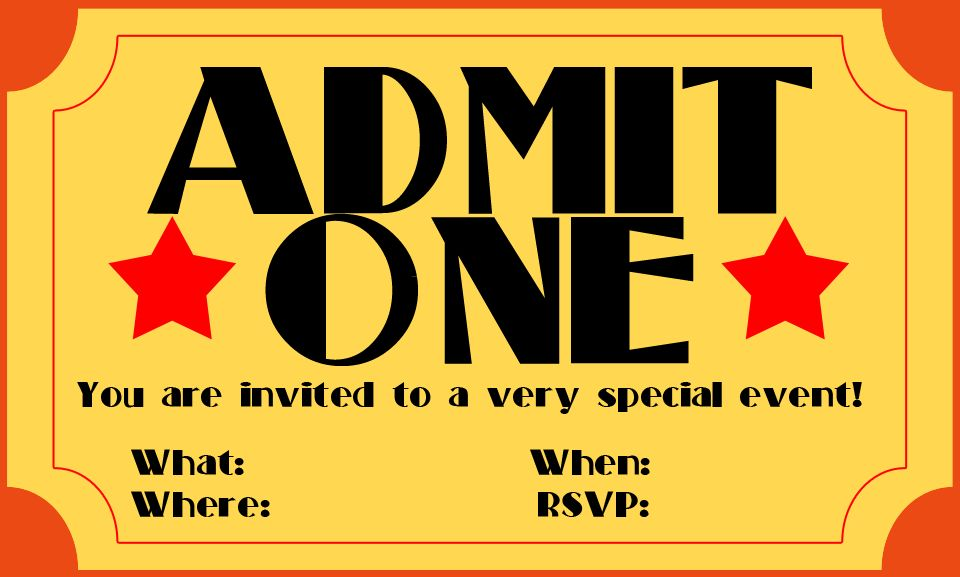 Movie Ticket Template.admit One Invitations Blank.jpg ...