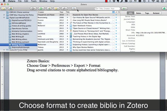 How to Capture and Cite Sources with Zotero | Web Writing: Why and ...