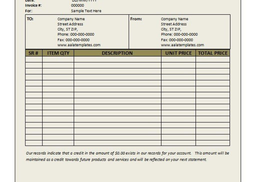 Sample Invoice Formsauto Transport Invoice Template Free ...