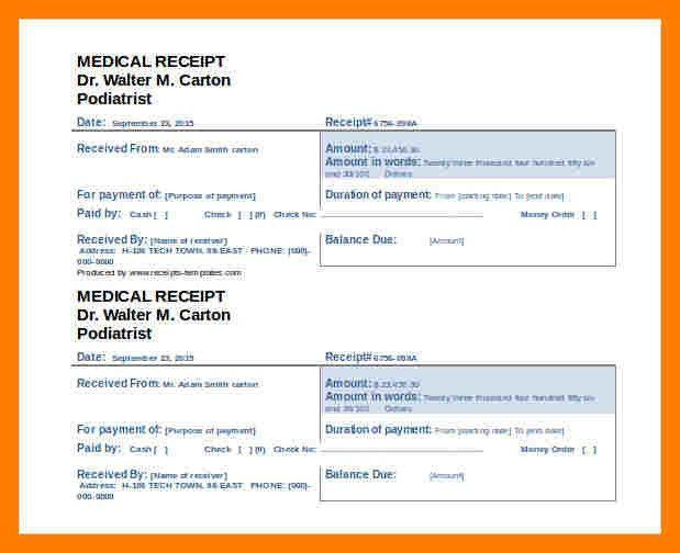 9+ doctor receipt template free | teller resume