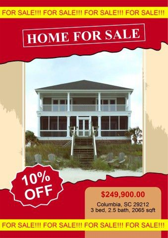 Home for Sale poster template, How to design a Home for Sale poster...