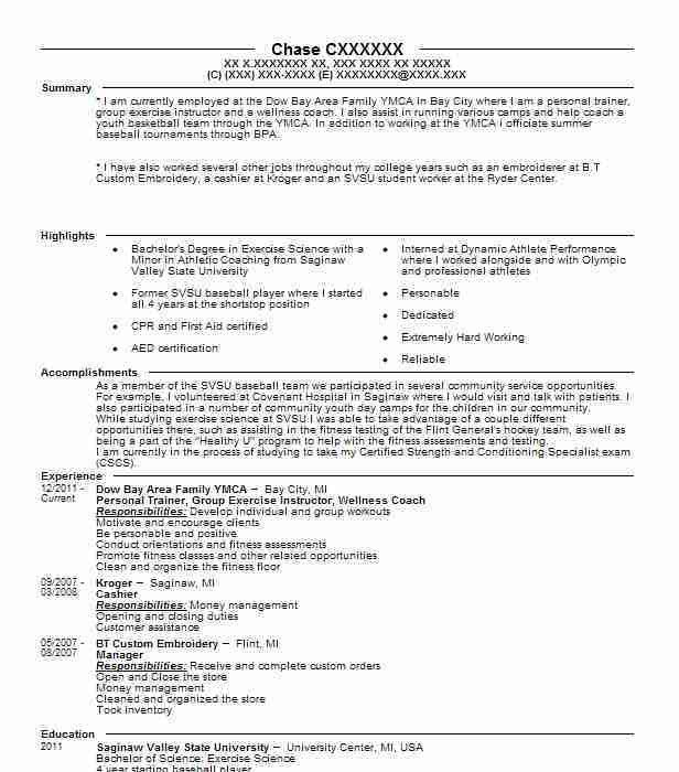 Best Personal Trainer Resume Example | LiveCareer