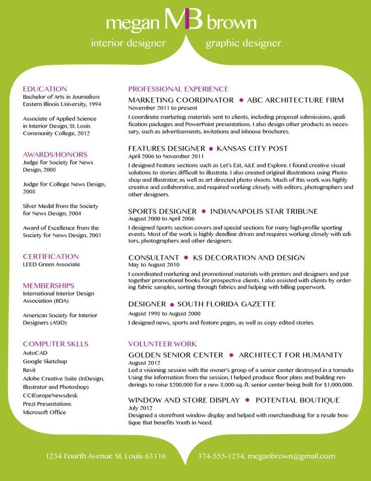 43 best Resumes images on Pinterest | Resume, Resume ideas and ...
