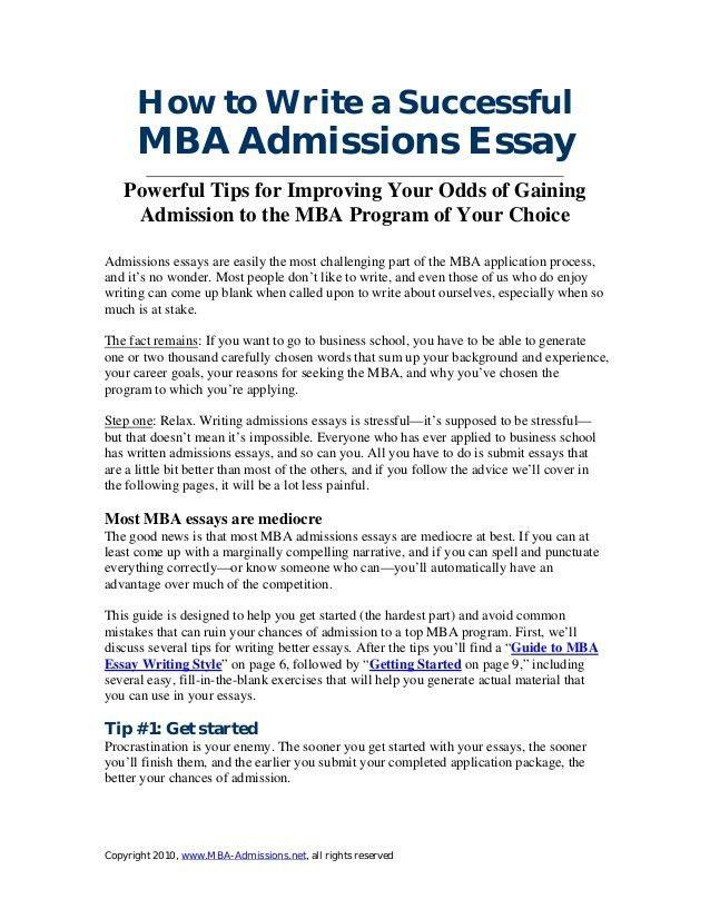 business school essay examples