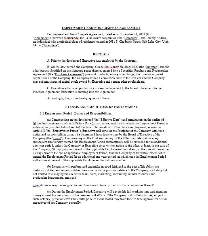 Convertible Note Agreement Template. Non-Compete-Agreement ...