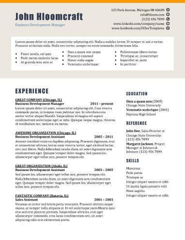 22 Contemporary Resume Templates [Free Download]