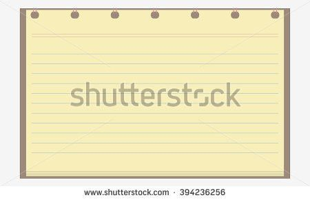 Vector Notebook Paper Background office Stationery Scrapbook Stock ...