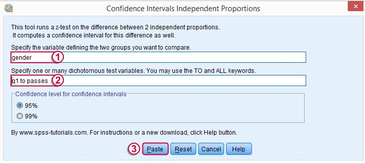Z-Test and Confidence Intervals Independent Proportions Tool