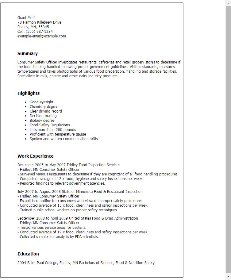 Safety Manager Resume 6 Sincerely MOHAMMED SHAKEELUDDIN JeddahK ...
