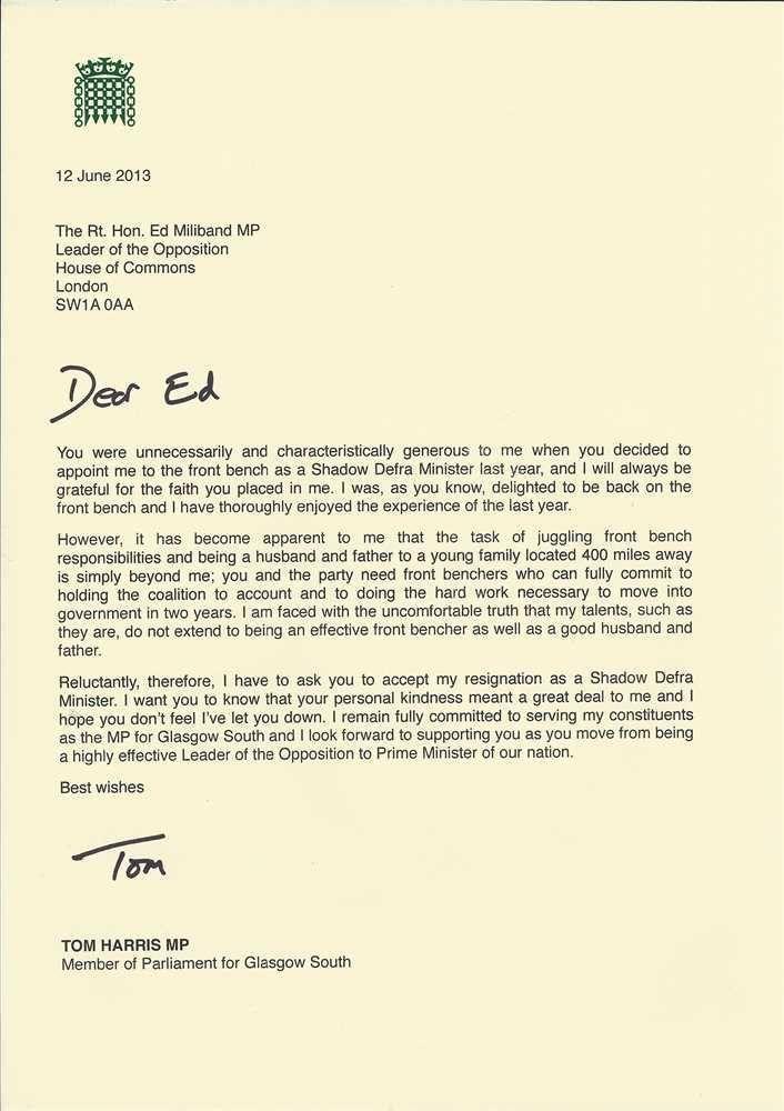 Proper Resignation Letter