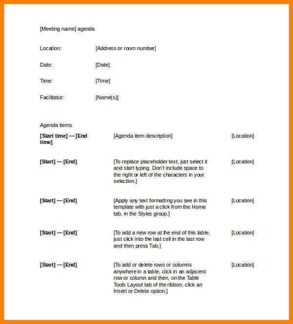 5+ call for agenda items template   resume language