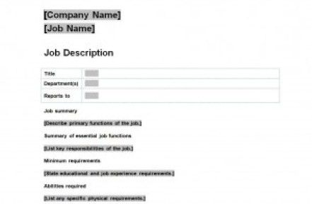 19+ Free Job Description Templates in Word Excel PDF