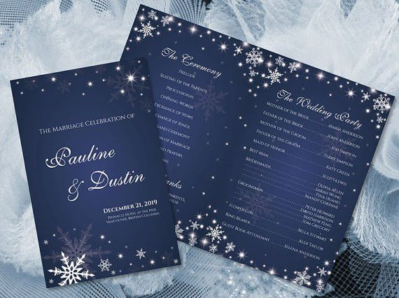 DIY Printable Wedding Program Template #2362228 - Weddbook