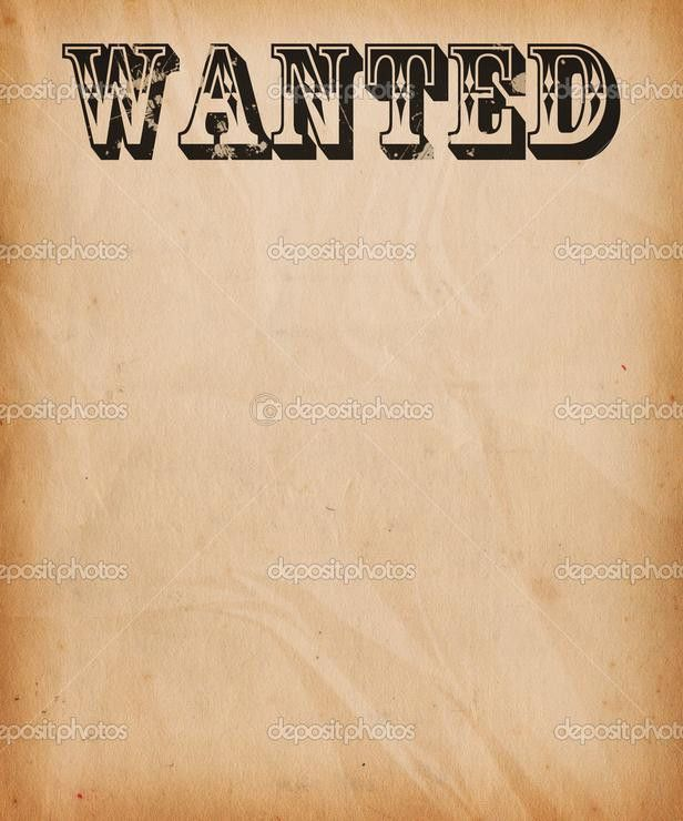 Wanted Poster Cliparts - Cliparts and Others Art Inspiration