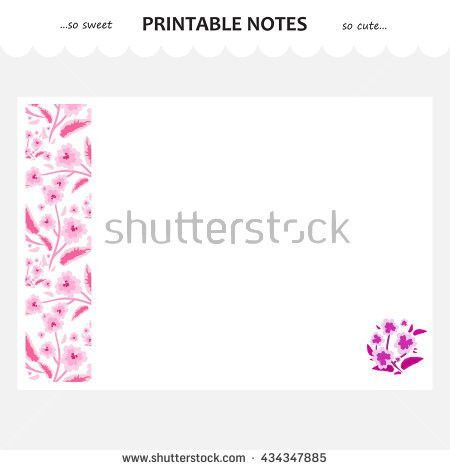 Vector Design Set Printable Paper Beautiful Stock Vector 426697387 ...