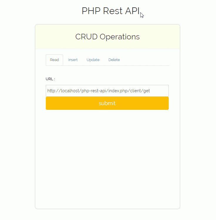 PHP Rest API | FormGet