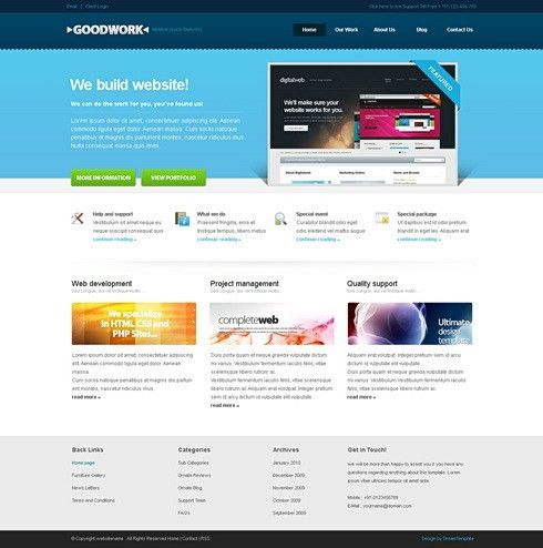 GoodWork - HTML Template - Corporate CSS Templates - CSS Templates ...