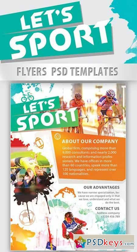 Let's Sport PSD Flyer Template PSD Template + Facebook Cover ...