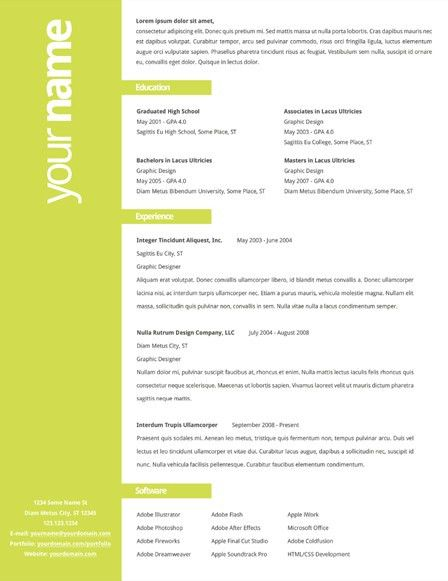 Resumés by Tyler Norris, via Behance Super simple one for a non ...