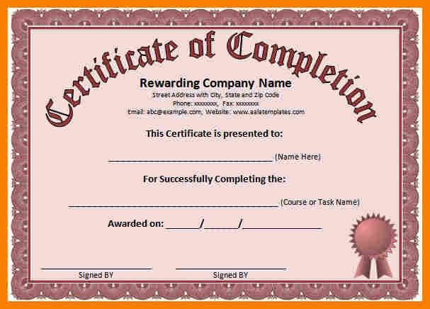 Award Templates For Word, free training certificates. sales ...