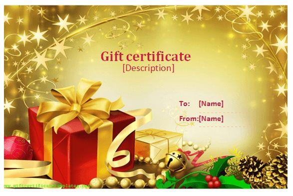 Celebration Gift Certificate Templates - Printable Certificates