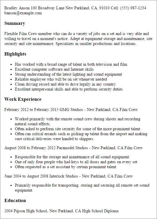 Download Film Resume Format | haadyaooverbayresort.com
