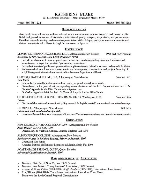 examples of resume summary statement