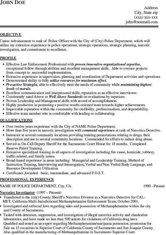Download Police Officer Resume Example | haadyaooverbayresort.com
