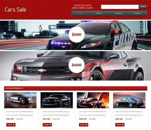 20+ Auto Parts & Cars HTML Website Templates