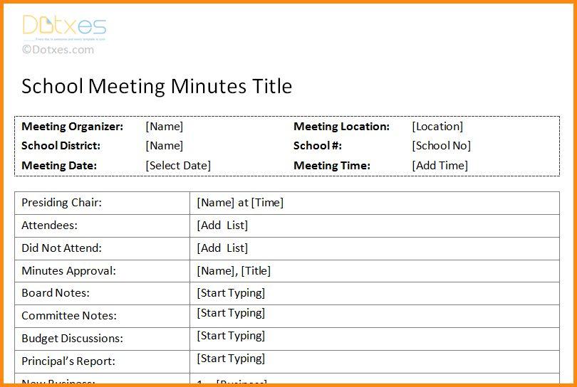 6+ meeting minutes format | workout spreadsheet