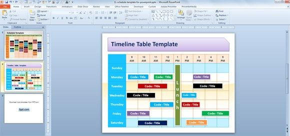 weekly presentation template free personal schedule template for ...