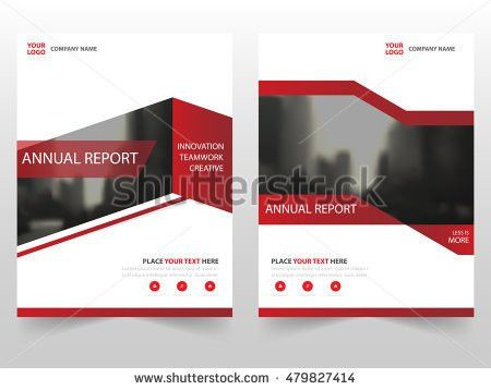 Red Technology Annual Report Brochure Flyer Stock Vector 425176495 ...
