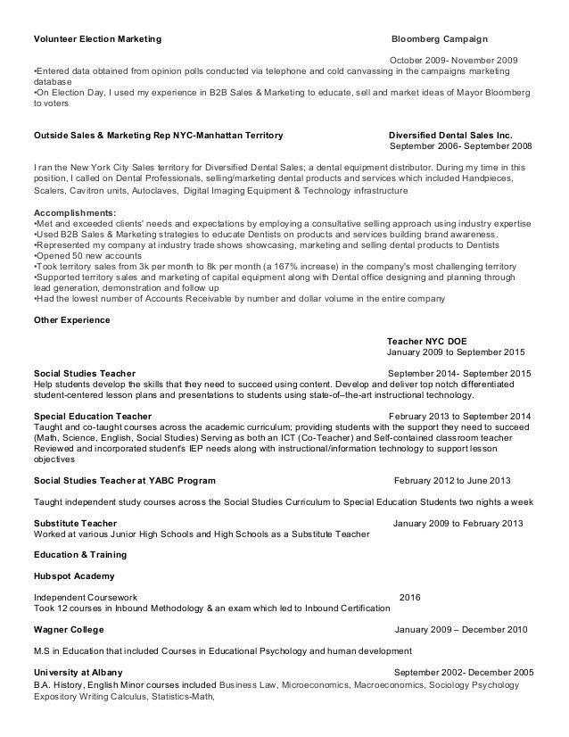 Marketing Resume Digital Marketing/Inbound Marketing/Social Media Mar…