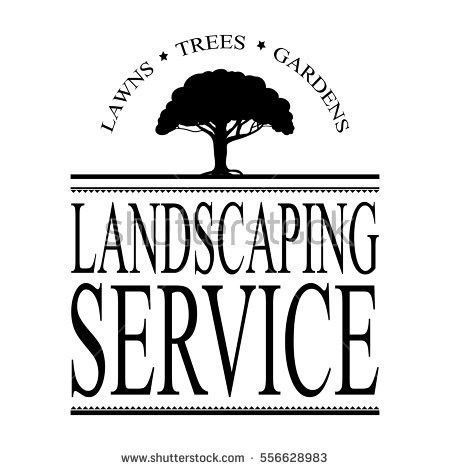 Landscaping Service Ad Design Vector Tree Stock Vector 556628983 ...