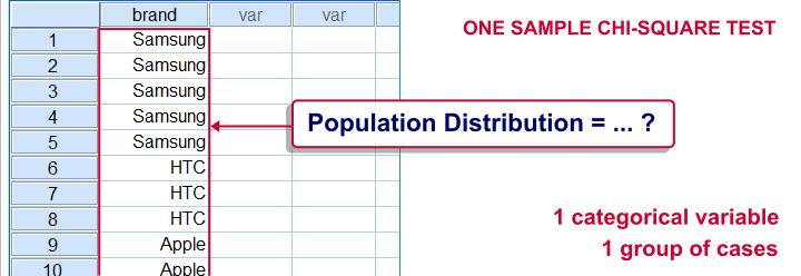 SPSS One Sample Chi-Square Test