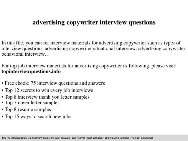 Ad Copywriter Cover Letter - sarahepps - - copywriter job description
