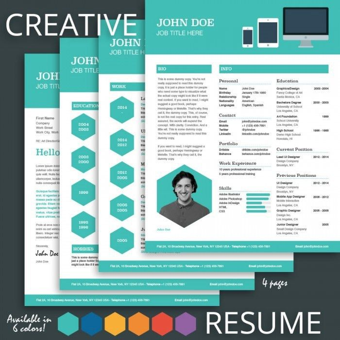 premium and creative resume templates cover letters modern ...