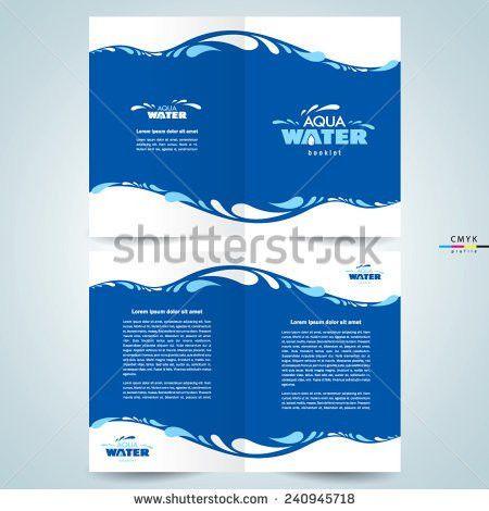 Brochure Design Template Booklet Water Aqua Stock Vector 240945718 ...