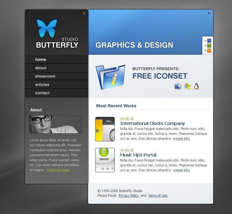 Website Design #8702 Graphic Design Butterfly Custom Website ...