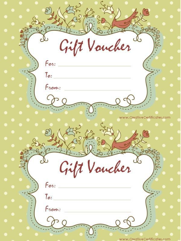 15 best Gift Vouchers images on Pinterest | Gift vouchers, Free ...