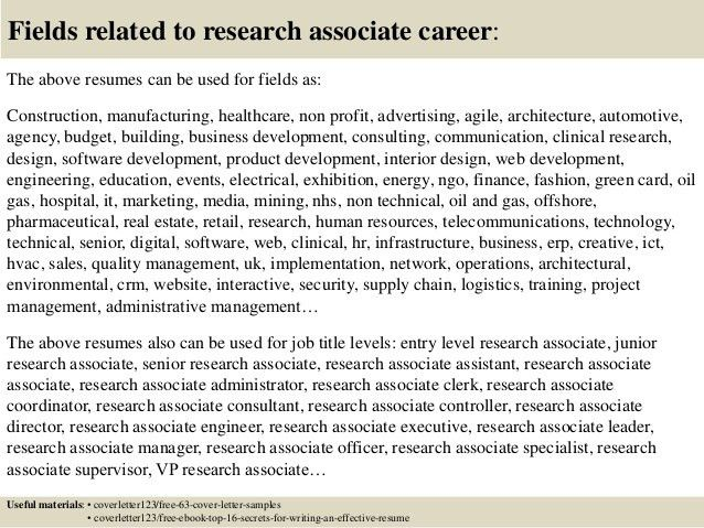 research intern cover letters
