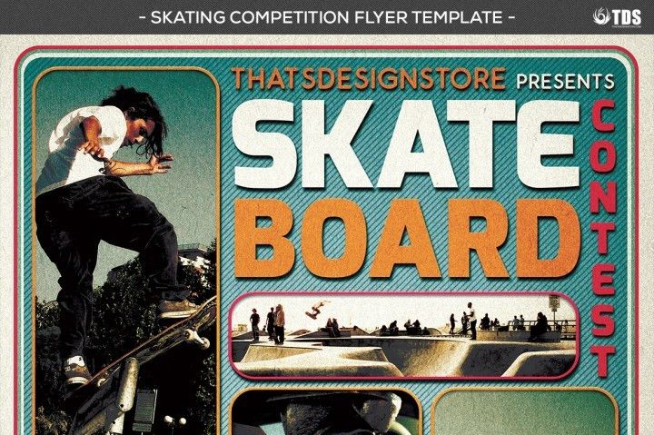 Skating Competition Flyer Template by Thats Design Store ...